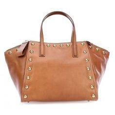 wardow.com - #bag #rock #metallic #nieten #trend #GerardDarel Le Buci Handtasche fein genarbtes Kalbsleder camel