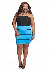 Web Exclusive: Color Block Tube Dress