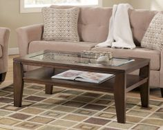 Home Gallery Furniture for Coffee/Cocktail Tables, Deagan Rectangular Cocktail Table