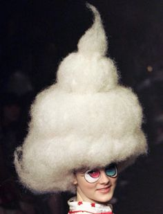 Batting wigs from Mercibeaucoup's S/S '08 collection | more here: https://www.firstview.com/collection.php?id=16337