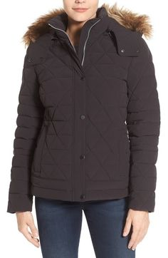 a332e474369ecd Marc New York by Andrew Marc  Tess  Quilted Down Jacket with Removable Faux  Fur