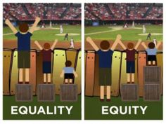 """""""Equity is giving everyone what they need to be successful. Equality is treating everyone the same.""""  =
