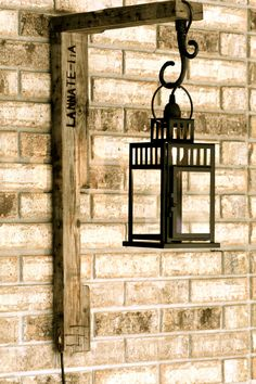 Rustic meets Modern wall lantern - alternative lighting