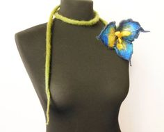 Locally made felt flowers, add a pop of color to your outfit!