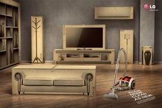 LG Vacuum Cleaner: Livingroom       Your home clean as new.     LG K2 Kompressor Vacuum Cleaner.  Advertising Agency: Y, São Paulo, Brazil