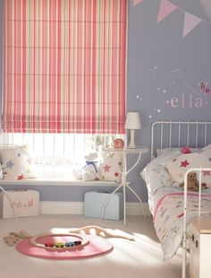 Be brave with contrasting colours  Blue is a great colour for a bedroom as it's naturally calming and soothing. While you wouldn't normally decorate a room using contrasting shades of blue and pink, don't be afraid to be more experimental with colour in a child's room as the results can look stunning