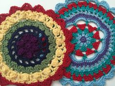 Special Anonymous Crochet Mandalas For Marinke using patterns by RedAgape and Spincushions ... + depression awareness video