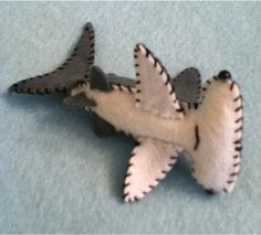 beautiful tiny felt HAMMER head SHARK any colour or by nicolaluke, $9.00
