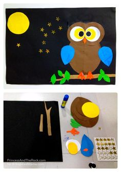 A Shape-ly Owl Craft [Contributed by Princess and The Rock] - B-Inspired Mama
