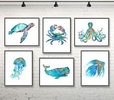 Watercolor nursery nautical prints beach wall decor ocean art blue coastal decor nautical baby shower coastal decor, set of 6 prints – – Baby Shower İdeas 2020 Nautical Prints, Nautical Nursery, Nursery Art, Nursery Prints, Nautical Baby, Coastal Nursery, Ocean Theme Nursery, Costal Bedroom, Sea Nursery
