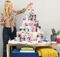 Emily Henderson acrylic block christmas tree
