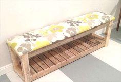 fabriquer un banc d'entrée avec une palette de bois