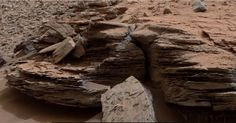 Photo of rocky shelf at base of Mount Sharp on Mars' surface from NASA's Mars Rover Curiosity. New Research Says Mars Was Cold and Icy, Not Warm and Wet http://www.visiontimes.com/2015/06/23/new-research-says-mars-was-cold-and-icy-not-warm-and-wet.html