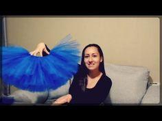 Falda de Tul para adulto TUTU, facil tulle skirt without adult seams - YouTube