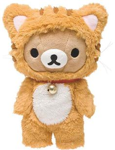 Nyanko Rilakkuma OSUWARI Plush (Brown) $18.00 http://thingsfromjapan.net/nyanko-rilakkuma-osuwari-plush-brown/ #rilakkuma plush #san x plush #kawaii Japanese stuff