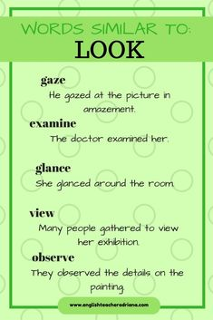 Words similar to look. Try them!