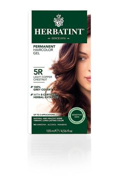 Herbatint Permanent Herbal Haircolor Gel, Light Copper Chestnut 5 R, 4.56-Ounces *** Review more details here : Natural Beauty Care