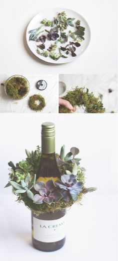 Outdoor entertaining will never be the same with this DIY Mini Succulent Wreath in your hostess repertoire. Grab your friends and enjoy a memorable summer night. Or try this easy craft for a fun, homemade housewarming gift idea!