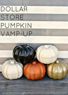 $1 STORE PUMPKIN VAMP-UP! {Tutorial}