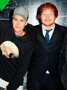 Justin and Ed Sheeran