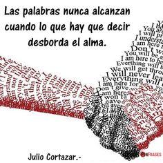 Frases de Julio Cortazar: las palabras
