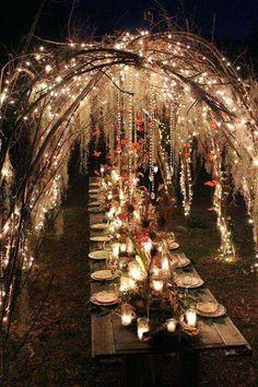 Cena en el jardin. Wow.