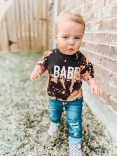 Baby Shirts, Cute Shirts, Kids Shirts, Toddler T Shirts, Bleach T Shirts, Vinyl Shirts, Bleach Clothes, Toddler Boy Fashion, Kids Fashion
