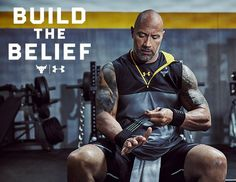 Dwayne 'The Rock' Johnson, Under Armour just launched the new 'Build The Belief' Project Rock Collection of workout clothes, shoes and gear. The Rock Dwayne Johnson, Dwayne The Rock, Rock Johnson, The Rock Workout, Celebrity Branding, Famous Movies, Rock Collection, Top Celebrities, Knights