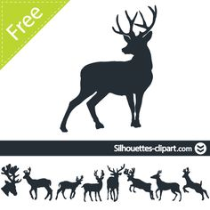 Deer vector silhouette | silhouettes clipart