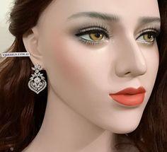 Art Deco Bridal Earrings Gatsby Wedding Earrings Cz by YJDesign