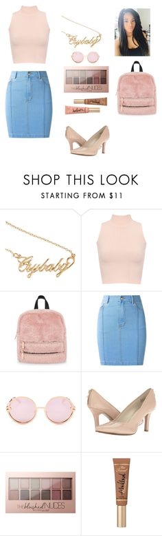 """""""#3 (Pastel Princess)"""" by chroniclove ❤ liked on Polyvore featuring WearAll, Skinnydip, Amapô, Quay, Anne Klein, Maybelline and Too Faced Cosmetics"""