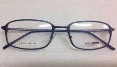 a4cf7754a61 Details about Large Rectangle Safilo Design sd131 SCANDIUM BLUE METAL  eyeglasses frame
