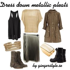 A fashion look from January 2012 featuring beige shirt, layering shirts and hooded parka. Browse and shop related looks. Layering Shirts, Beige Shirt, Hooded Parka, Metallic, Fashion Looks, Polyvore, Shopping, Dresses, Vestidos