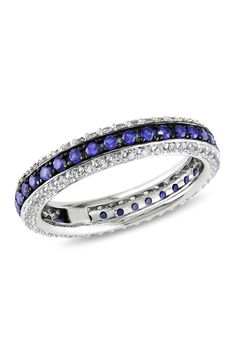 Sapphire Eternity Ring - Wedding look I Love Jewelry, Jewelry Box, Jewelry Accessories, Fashion Accessories, Fashion Jewelry, Jewlery, Jewelry 2014, Sapphire Eternity Ring, Eternity Bands