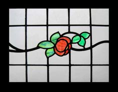 STUNNING FLORAL ART DECO STAINED GLASS WINDOW #ArtDeco