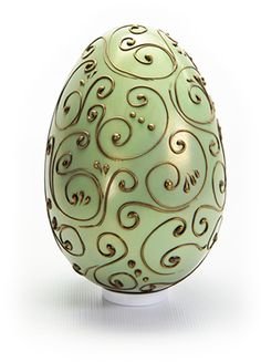 Filigree Egg from Lick the Spoon in the U. Filigree Egg from Lick the Spoon in the U. Easter Cupcakes, Easter Cookies, Easter Treats, Chocolate Work, Easter Chocolate, Luxury Easter Eggs, Easter Biscuits, Champagne Truffles, Easter Arts And Crafts