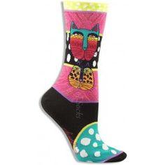 Laurel Burch Wild Cat Socks (Women's)