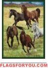 Horses / Running Garden Flag