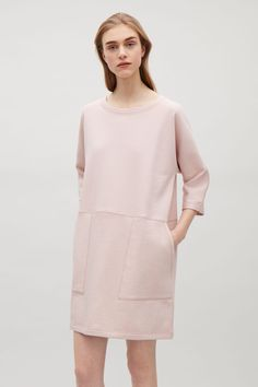 COS image 2 of Patch pocket dress in Rose Pink