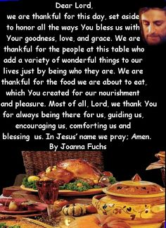 Thanksgiving dinner prayer is a lovely ecard which you can share with your family and friends Thanksgiving Dinner Prayer, Thanksgiving Prayers For Family, Christmas Dinner Prayer, Thanksgiving Blessings, Prayer For Family, Thanksgiving Quotes, Thanksgiving Appetizers, Thanksgiving Recipes, Thanksgiving Outfit