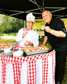 Chef with Mayor of Markham Picnic Blanket, Outdoor Blanket, Promotional Events, Special Events, Champagne, Tables, Santa, Entertaining, Image