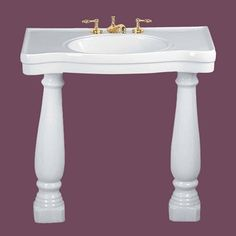 http://www.rensup.com/Console-Sinks/cd/1684.htm     Console Sink Belle Epoque White China Roman Legs Wall Mount  $399