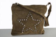 Brown bag with studs - studded brown bag - bruine tas met studs - tassen