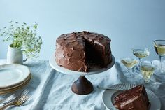 Anita Shepherd's Vegan Chocolate Birthday Cake With Super-Fluffy Frosting recipe on Food52