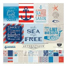 Authentique - 12x12 Collection Kit - Seafarer