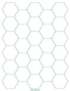 Printable 1 Inch Green Hexagon Graph Paper for Letter Paper Printable Graph Paper, Templates Printable Free, Free Printables, Paper Piecing Patterns, Pattern Paper, Hexagon Pattern, Mandala Coloring Pages, English Paper Piecing, Designs To Draw