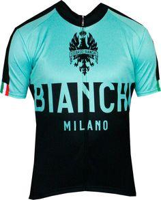 Bianchi-Milano Nalon Black/Celeste SS Jersey