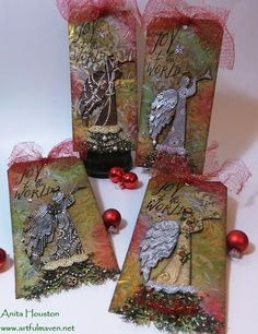 The Artful Maven Haven: The Crafty Scrapper's 12 Days of Christmas Tags