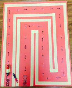 """Forces and Motion: Magnets! Build a """"Magnet Maze"""" using tape and poster board then challenge students to move their car from start to finish using their knowledge of attract and repel!"""