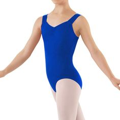A great tank leotard for active ladies from Capezio! This classic tank leotard has princess seams and a pinch front with thick tank straps. It has a moderately cut legline and the front is fully lined for extra coverage. The washing instructions suggest m